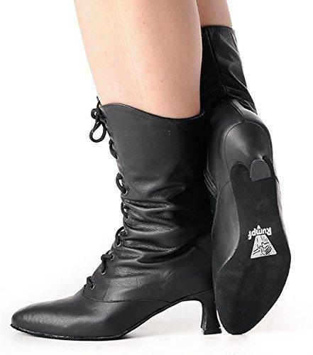 Rumpf 2316 Cancan Garde Karneval Folklore Tanz Stiefel Dance Boot Theater Bühnen Schuhe Shoes Boots Schwarz
