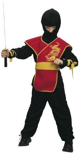 Boland 86894 - Kinderkostüm Ninja Meister mit Hose, Shirt, Gürtel und Maske, 4 - 6 Jahre