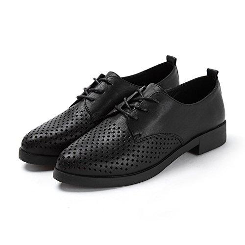 Primavera scarpe semplice/Tacchetto a punta/Con scarpa bocca profonda Nero