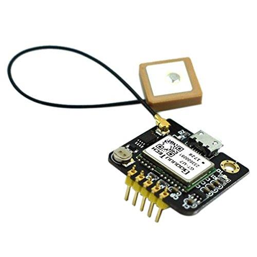 SODIAL 1 Set di Posizionamento Satellitare per Navigazione GPS in Metallo Nero GT-U7 per Microcontrollore NEO-6M 51 STM32 Arduino con Antenna Attiva 2.76 x 2.66 x 0.3cm