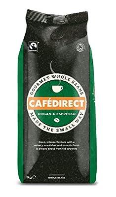Cafédirect Fairtrade Organic Whole Bean Espresso 1kg