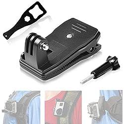 Fantaseal® Clip Sac à Dos, Mini Clip/Pince à Sac pour Gopro, Fixation à 360 Dégrés Rotation pour GoPro, Pinc Accessoires Gopro Hero 7/6/5/4/3+/3 DJI Action SJCAM SJ4000 SJ4000WIFI DBPOWER QUMOX etc.