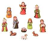 Modellhaus Krippenfiguren 11-teiliges Set Krippe Weihnachten Gr��e bis 9cm
