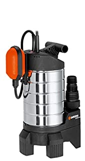 Gardena Premium Schmutzwasserpumpe 20000 inox: Tauchpumpe mit Fördermenge 20000 l/h, geräuscharmer und wartungsfreier 1050W Kondensatormotor, langelebige Pumpe mit Thermoschutzschalter (1802-20) (B0013BJBPA) | Amazon price tracker / tracking, Amazon price history charts, Amazon price watches, Amazon price drop alerts