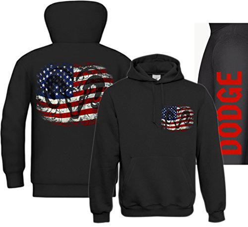 RAM, american Pickup Truck, US Car, Mopar V8, Dodge, Muscle car, Shirtmatic Shirt o. Hoodie RAM USA Hoodie schwarz