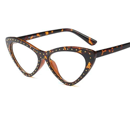 MOJINGYAN Sonnenbrillen Cat Eye Brille Frame Frauen Lesen Brillen Von Gefälschten Frau Transparentes Dreieck Brillenfassungen Für Frauen Klare Computer, C