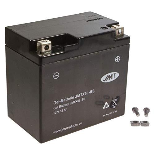 Preisvergleich Produktbild JMT YTX5L-BS Gel Batterie GTA 50 Blizzard Lady Black Racing 2010-2016