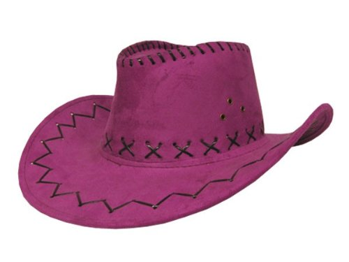 COWBOYHUT WESTERNHUT AUSTRALIEN TEXAS HUT alle farben, farbe:pink Fuchsia 24