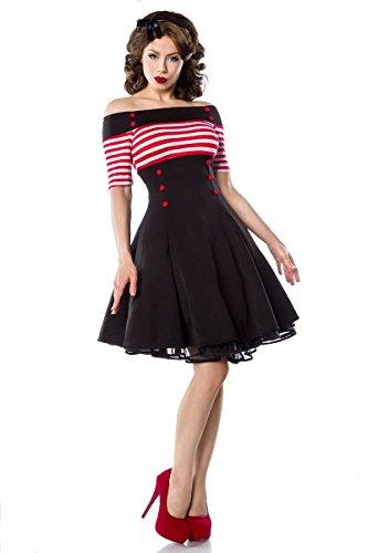Kostüm Und Schwarze Weiße Vintage - Belsira - Vintage-Kleid - schwarz/rot/weiß - L
