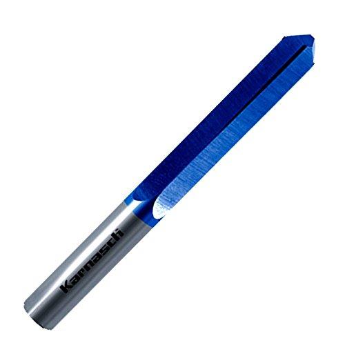 Vollhartmetall Bohrfräser für Schlüsseldienst BLUE-TEC beschichtet Frässtift Fräser 6 mm