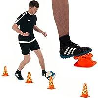 QuickPlay Conos de entrenamiento de 23cm: Conos deformables con ranuras (juego de 6)