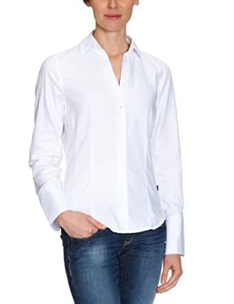 Jacques Britt Damen Businessbluse  61.973002 CITY-BLUSE 1/1-LANG, Gr. 36 (S), Weiß (2 - weiß)
