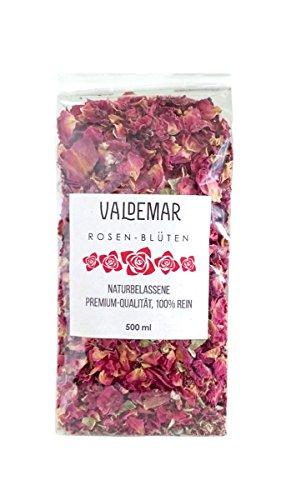 Foglie di fiori di rosa 500 ml di qualità premium non mischiate e al 100% senza additivi Colore e profumo splendidi