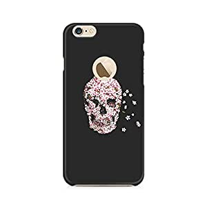 TAZindia Skull Flower Premium Printed Case For Apple iPhone 6/6s with hole