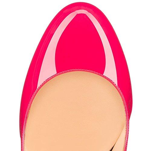 EDEFS Damen Runde Zehen Geschlossene Hoch Absatz Pumps Stiletto High Heels für Damen Party Schuhe Rose