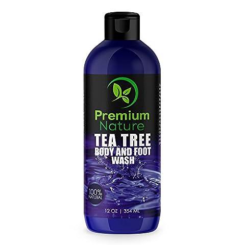 Antifungal Soap Body & Foot Wash - 354 ml with Tea Tree Oil 100% Natural Fungal Defense Care Kills Bacteria Athletes Foot Ringworm Jock Itch - Antibacterial Soap Premium Nature