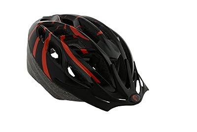 Falcon Men's Inmold Bike Helmet - Black/Red, 58-62 cm from Falcon