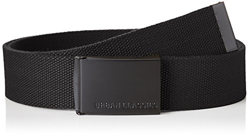 Urban Classics Unisex Canvas Belts Gürtel, black/black, one size