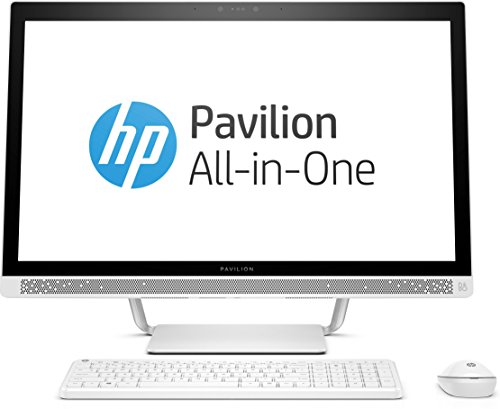HP Pavilion 27-a259ng 68,6 cm (27 Zoll FHD-IPS) All-in-One Desktop-PC (Intel Core i5-7400T, 8GB RAM, 1TB HDD, 128GB SSD, Intel HD-Grafikkarte 630, Windows 10 Home 64) weiß