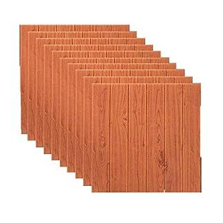 10Pack 3D pegatinas de pared de ladrillo papel pintado auto-adhesivo imitación de madera efecto de la textura de fondo decoración de la pared dormitorio restaurante (color : E)