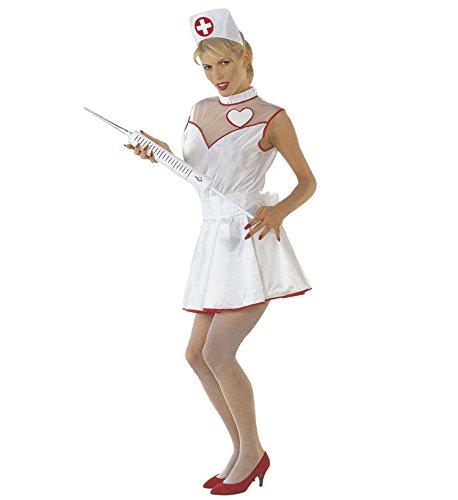 Krankenschwester Pflegerin Kostüm Gr. M inkl. Kleid Haube und Riesenspritze Karneval Fasching