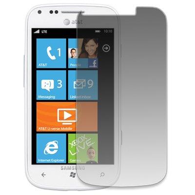 EMPIRE AT&T Samsung Focus 2 I667 Silicone Skin Case Étui Coque Cover Couverture (Blanc) + Voiture de pare-brises + Invisible Films de protection d'écran