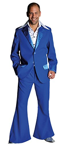 blau Herren Disco Anzug-Kostüm Gr.XL ()