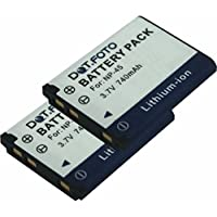 2 x Dot.Foto Batterie de qualité pour Fujifilm NP-45, NP-45a, NP-45s - 3,7v / 740mAh - Entièrement 100% compatibles - garantie de 2 ans [Pour la compatibilité voir la description]