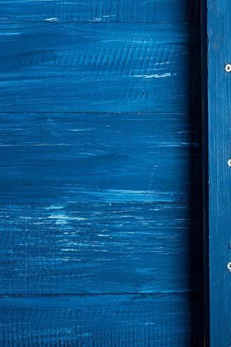 Carnet de Notes: Petit journal personnel de 121 pages blanches avec couverture « Bois - Peinture Bleue » par Virginie Polissou