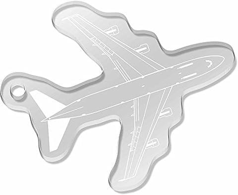 Large 'Jumbo Jet' Shaped Engraved Keyring (AK00011068)