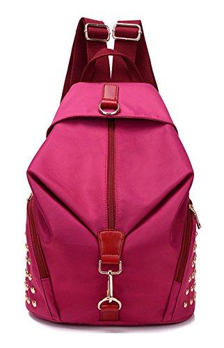 Longzibog Dual verstellbare Schultergurte und Hängeschlaufenband Mode Damen accessories hohe Qualität Einfache Tasche Schultertasche Freizeitrucksack Tasche Rucksäcke Rot