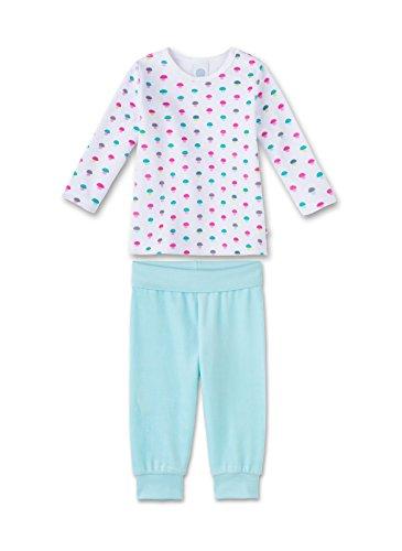 Sanetta Baby-Mädchen Zweiteiliger Schlafanzug 221261, Weiß (White 10), 80