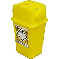 Qualicare perforants Safe Aiguille Seringue à insuline Disposal Chirurgie Poubelle Box–1litre, Single Pack