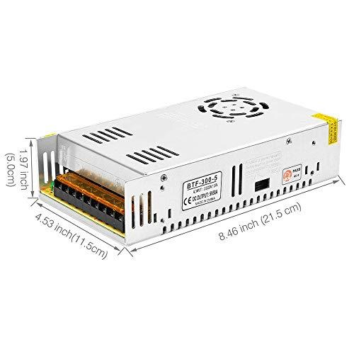 BTF-LIGHTING DC5V 60A 300W Aluminium Netzteil für WS2812B APA102 LED8806 WS2801 SK6813 LED-Streifenmodule Licht 60 110v Ac Power Adapter
