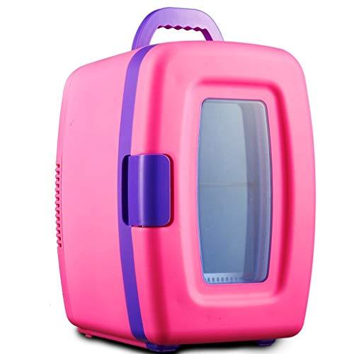 MUTANG 10L Mini Kühlschrank 12V Auto Kühlschrank Mini Gefrierschrank Dual-Use-Auto/Home Hot/Cold Family Kleiner Kühlschrank (Farbe : Rosa)