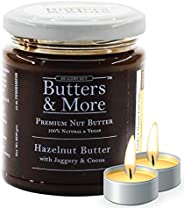 Butters & More Vegan Hazelnut Butter with Dark Cocoa & Organic Palm Jaggery (200G). Healthy Chocolate