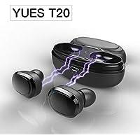 YUES Mini Auriculares Bluetooth, pareja estéreo in-ear de auriculares inalambricos con caja de