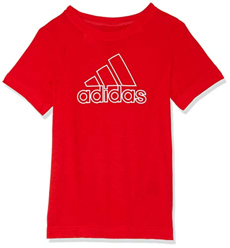 adidas Jungen Training Prime Kurzarm T-Shirt, Vivid Red/White, 128 -