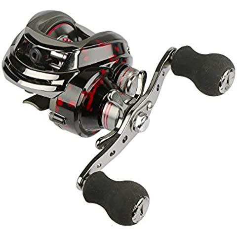 Goture Right / Left Hand Bait Casting Reel 6.3: 1 Gear Low Profile 13 + 1 Bearings for High-speed Ball - Streamline Linea Freno