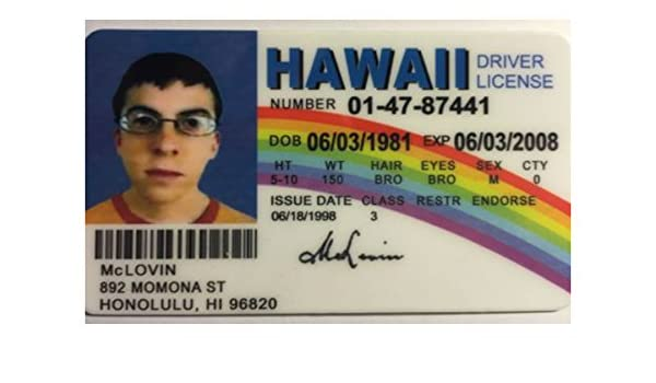 Reproduction in Movie Prop At Lovin In Superbad Drivers License Hawaii Amazon Buy India Novelty - Online Prices Mc Low