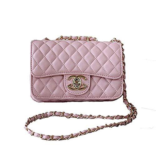 XNRHH Handbag 2018 neue Welle Paket Kuriertasche Damen weiblichen Beutel Handtaschen für Frauen Handtasche-DarkPink (Logo Gucci Handtaschen)