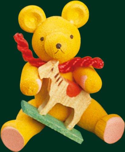 Sopporti il cucciolo di orso con le montagne handcrafted cavallo di öre della figurina 3cm di Natale di arte di piega