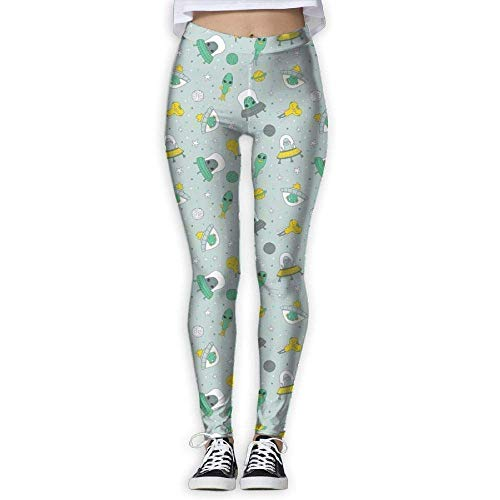0f412b13aea Funny Aliens Womens Yoga Capris Power Flex Running Pants Workout Leggings  Small