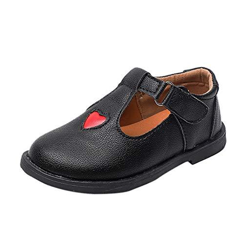 Holywin Kinder Schuhe Baby Sneaker Kind Mädchen Floral Casual Herz Single Leder Princess Schuhe