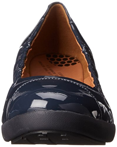 FF2 by Fitflop Donna Navy F-Pop Patent pelle pompe Supernavy