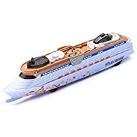 SR TOYS Ship Toy Cruise Ship Model Ocean Liner Boat Pull Back Toy for Kids with Flashing LED Lights and Sounds (Multi…