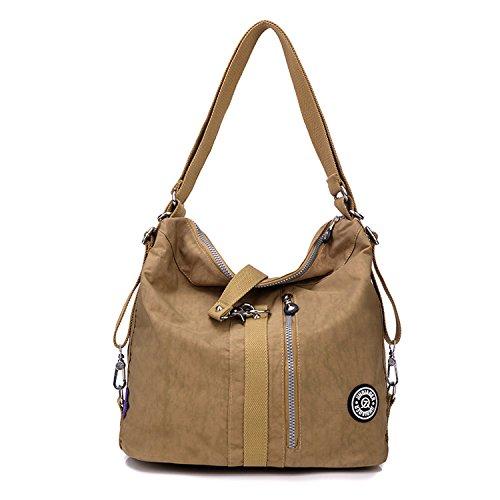 Outreo Schultertasche Wasserdichte Messenger Bag Umhängetasche Damen Handtasche Designer Kuriertasche Rucksäcke Strandtasche Sporttasche für Mädchen Taschen Reisetasche Nylon (Nylon Reise Rucksack)