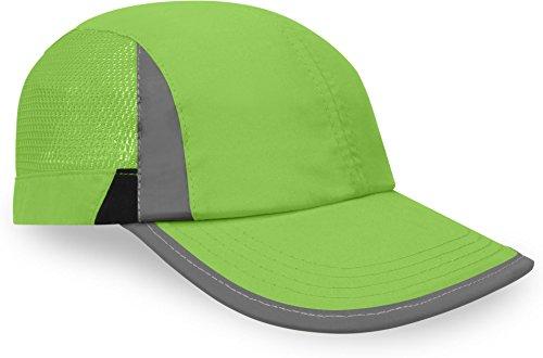 normani Leichte Unisex Sportcap in strahlenden Farben, mit Netzeinsätzen und reflektierenden Elementen Farbe Grün