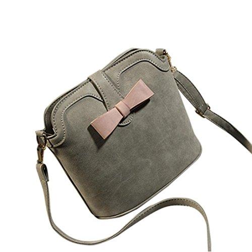 Transer Women Shoulder Bag Popular Girls Hand Bag Ladies Leather Handbag, Borsa a spalla donna Pink 23cm(L)*22(H)*12cm(W) Grey