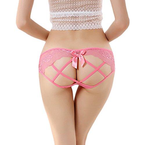 Dissa 2er Pack Z943 Damen Panties Strings Tanga Wassermelonenrot
